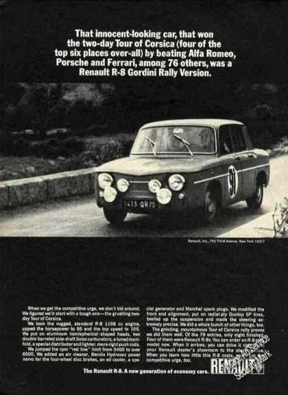 Renault R-8 Gordini Rally Version Photo (1965)