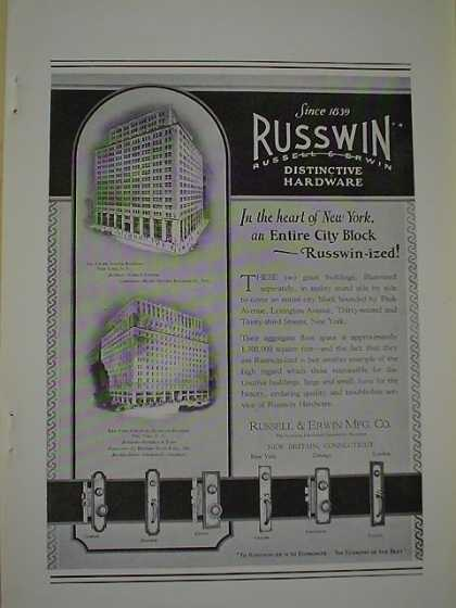 Russwin Russell Erwin Hardware Park Ave Bldg NY NY New York Furniture Exchange Bldg NY NY (1926)