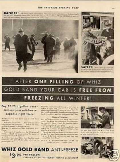 Whiz Gold Bond Anti-freeze (1931)