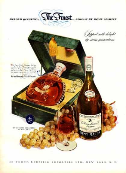 Remy Martin Cognac Champagne (1951)