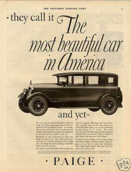"Paige Car Ad ""They Call It... (1926)"