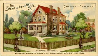 Steward Iron Work's Iron Fences – The Stewart Iron Works (1914)