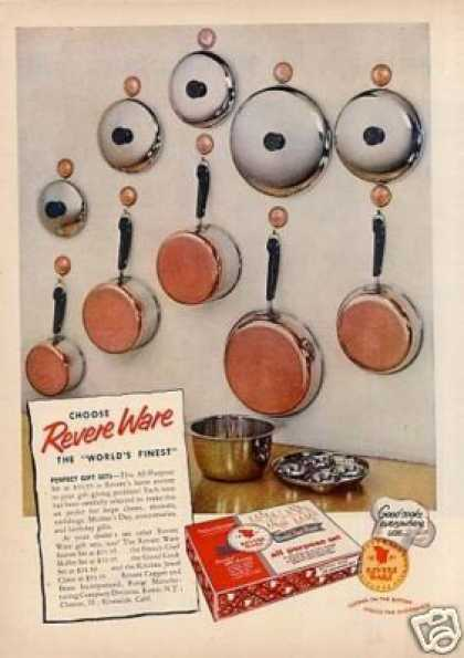 Revere Copper Bottom Pots & Pans (1955)