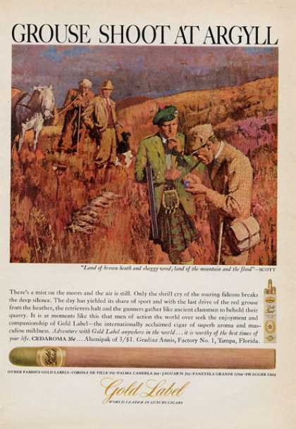 Gold Label Cigar Grouse Shoot at Argyll (1965)