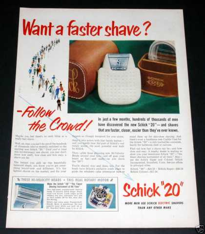 "Old , Schick ""20"" Electric Shaver (1951)"