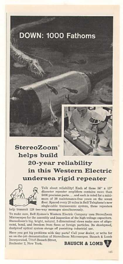 Bausch & Lomb StereoZoom Bell Undersea Repeater (1963)