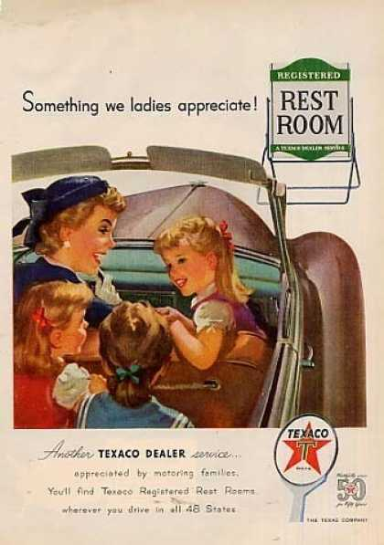 "Texaco Ad ""Something We Ladies... (1952)"