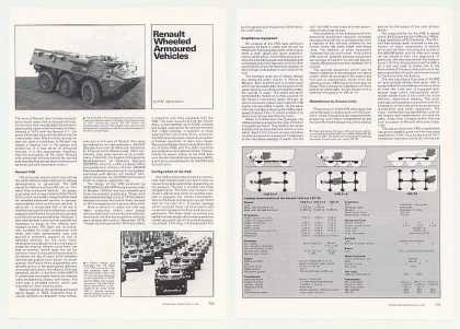 Renault Wheeled Armoured Vehicles 5P Photo Article (1980)