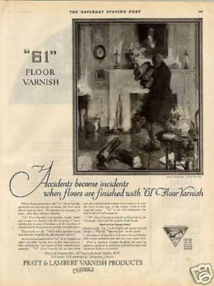 Pratt & Lambert Varnish Ad Walter Biggs Art (1925)