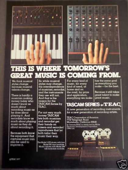 Tascam Recording Instruments Music (1977)