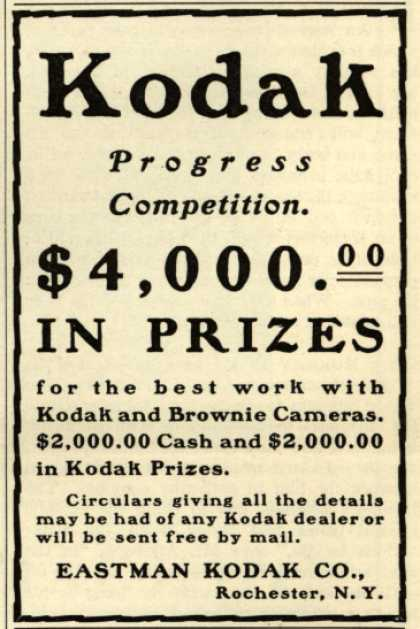 Kodak – $4,000.00 In Prizes (1902)
