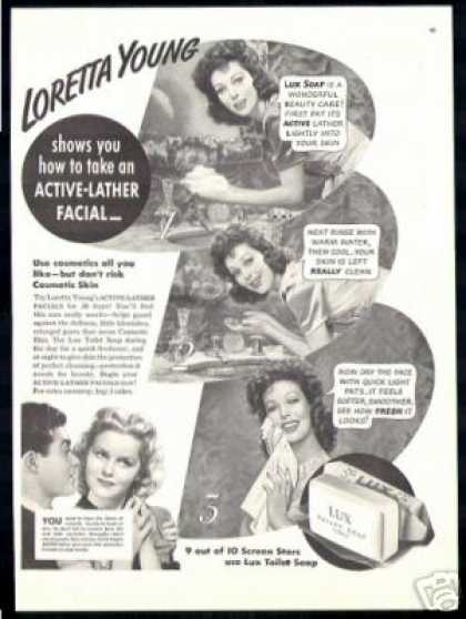Loretta Young Photos Lux Soap Vintage (1940)