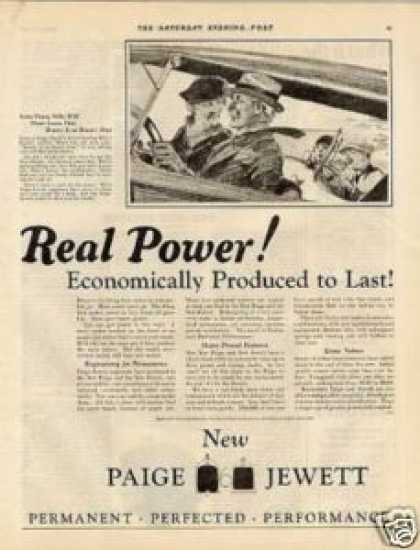"Paige-jewett Car Ad ""Real Power... (1925)"