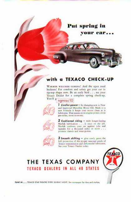 Texaco Motor Oil – The Texas Co. / Put Spring in your Car (1947)