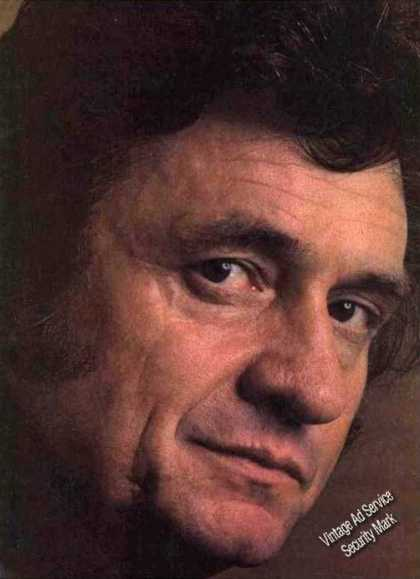 Johnny Cash Closeup Magazine Print Photo (1981)