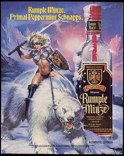 Sexy Warrior Polar Bear Rumple Minze Liqueur (1991)