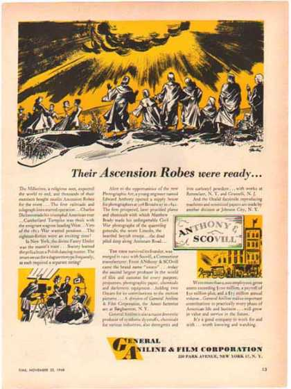 Agfa – General Aniline & Film Corporation – Their Ascension Robes … (1948)