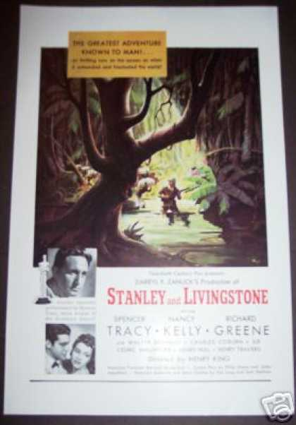 Movie Ad Stanley and Livingstone Spencer Tracy (1939)