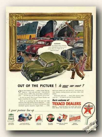 Texaco Cars To Junkyard Antique (1945)