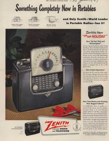 Zenith Radio Corporation's Portable Radios – Something Completely New in Portables (1949)