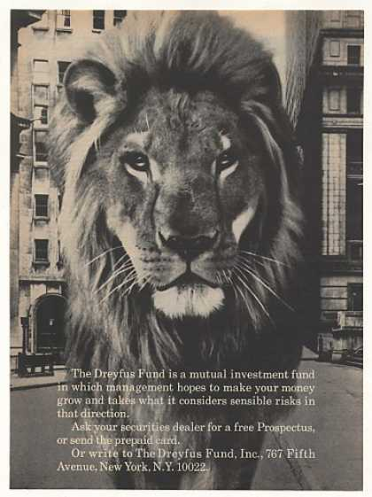 Dreyfus Fund Fifth Ave New York Lion Photo (1969)