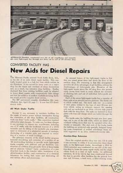 """New Aids for Diesel Repairs"" Article/mopac (1955)"