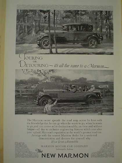 The new Marmon Car Touring AND Dutch Boy White Lead (1926)