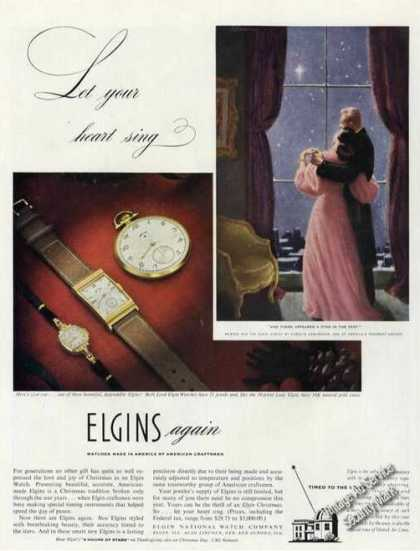 Elgin Watches Carolyn Edmundson Art Antique (1946)