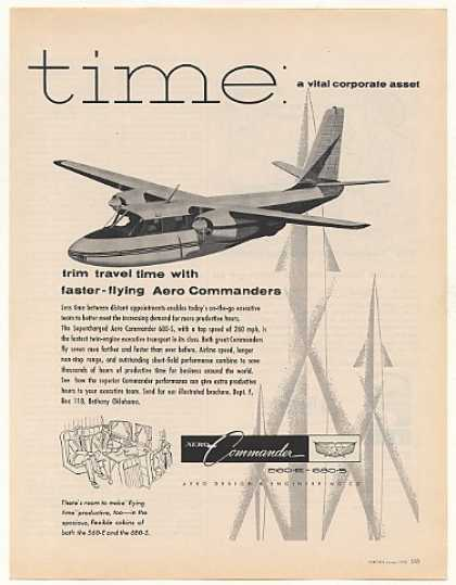 Aero Commander 680-S Twin-Engine Airplane (1958)