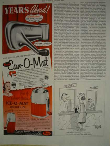 Rival mfg Kansas City Ice O Mat – Can O Mat (1955)