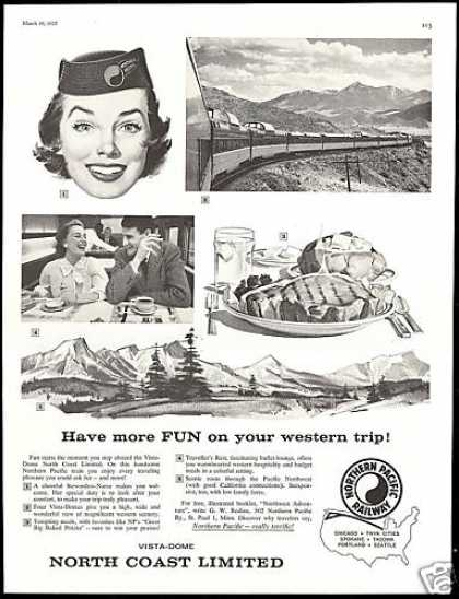 Northern Pacific Railway Train Railroad (1957)