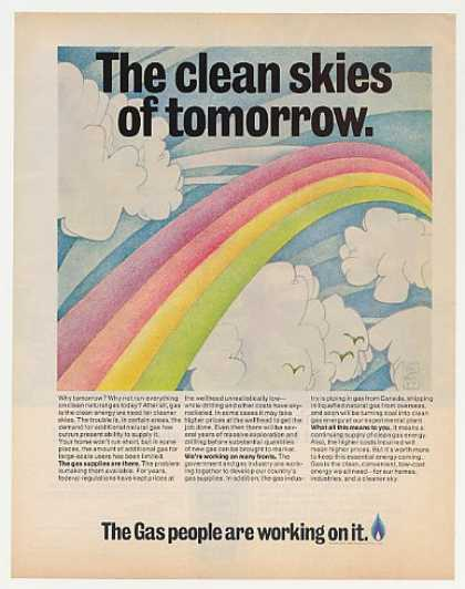 '71 Clean Skies Tomorrow Schulenberg Rainbow art Gas (1971)