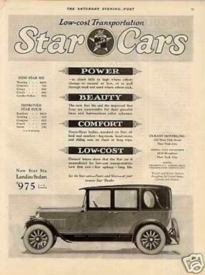 Star Six Landau Sedan (1926)