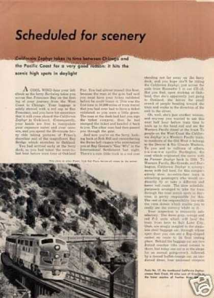 """Scheduled for Scenery"" Article/califor (1950)"