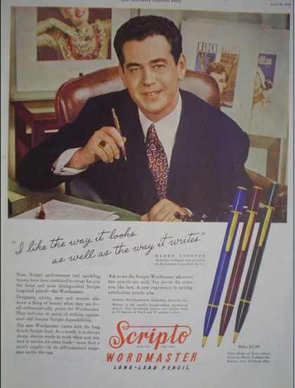 Scripto Wordmaster long lead pencils Harry Conover (1946)