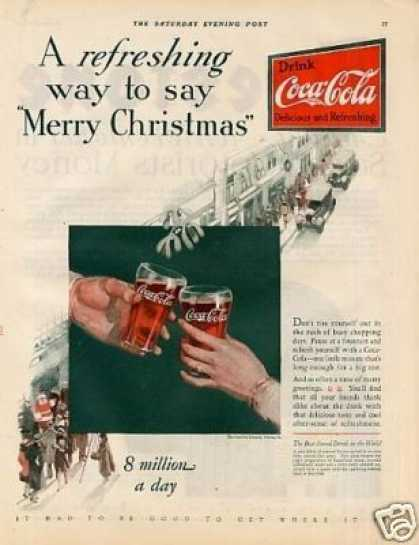 "Coca-cola Color Ad ""A Refreshing Way To Say... (1927)"