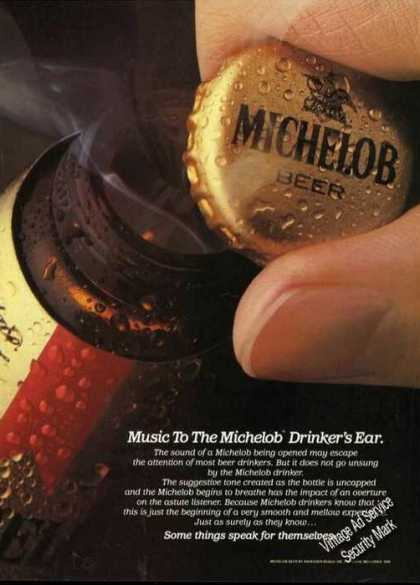 Michelob Beer Ad Music To the Drinkers Ear Photo (1984)