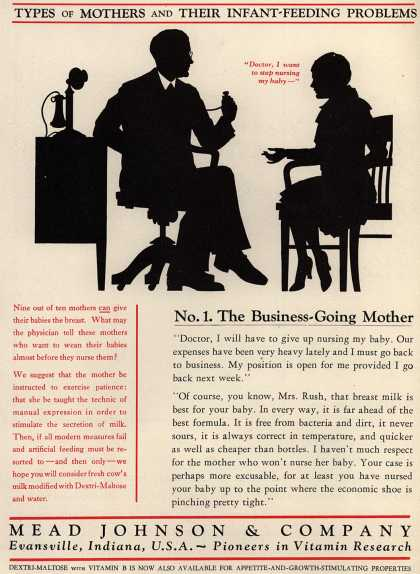 Mead Johnson and Company's Dextri-Maltose – Types Of Mothers And Their Infant-Feeding Problems (1930)