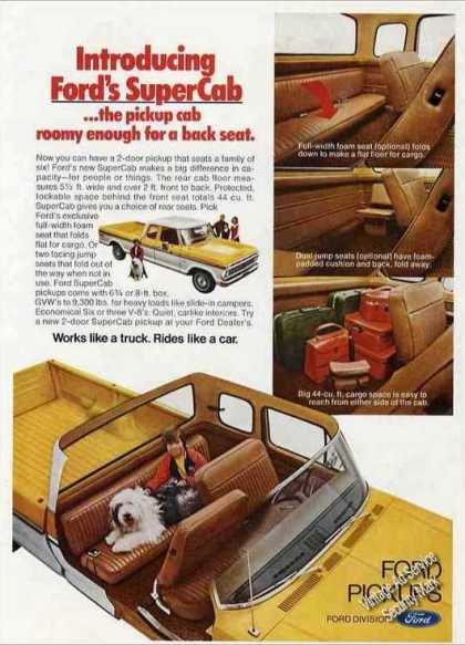 Ford Supercab Pickup Truck Cutaway View (1974)