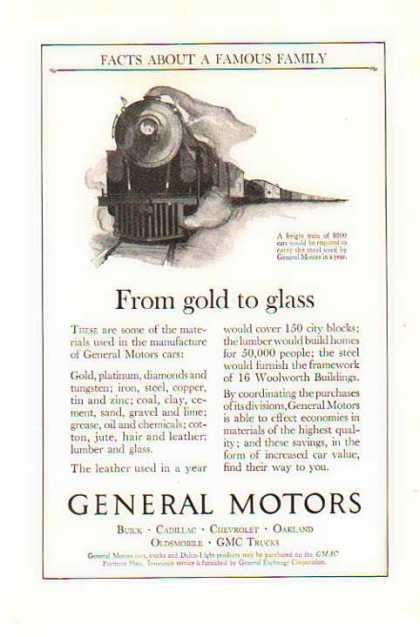 GM Freight Train – GM Family Facts – Sold (1924)