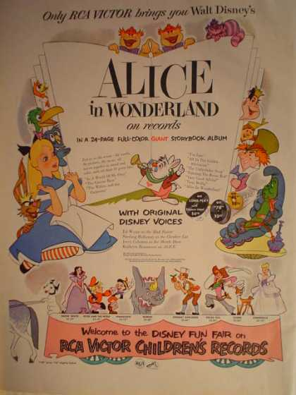 RCA Victor Alice in Wonderland Sound track (1951)