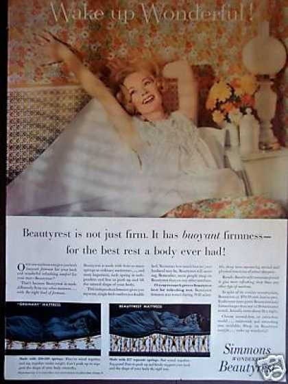 Simmons Beautyrest Mattress Wake Up Wonderful (1957)