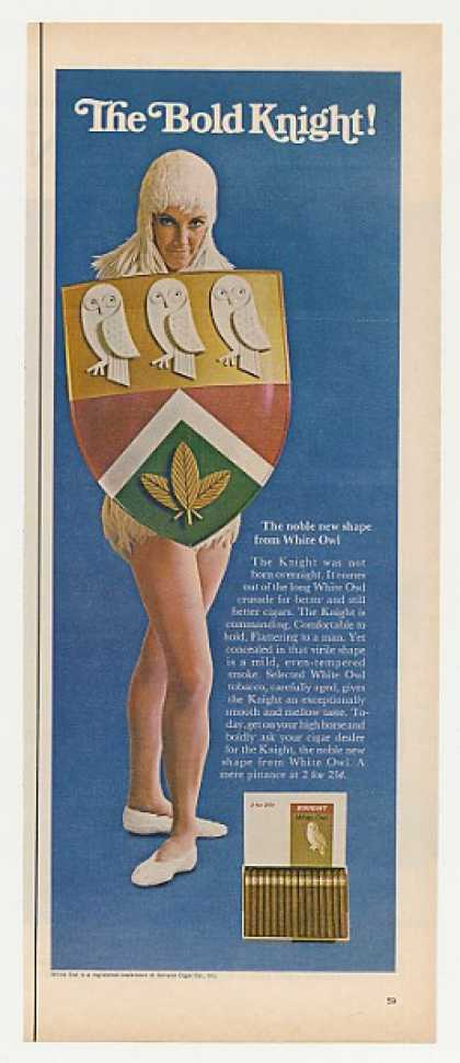 White Owl Cigar Bold Knight Lady (1967)