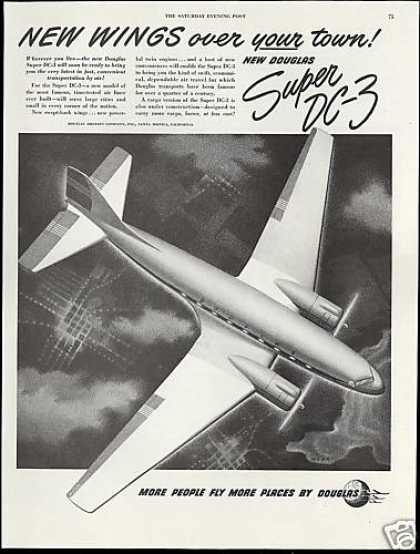 Douglas Super DC3 DC-3 Airplane Wehr Art (1949)