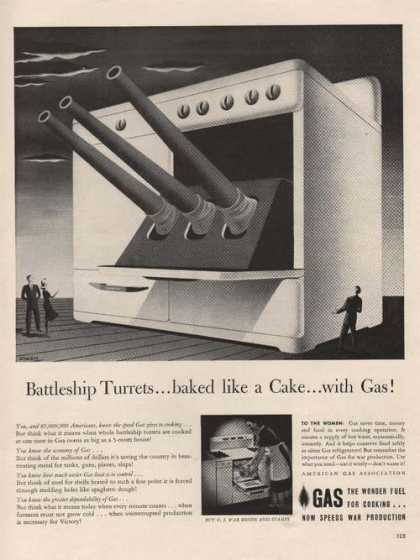 Battleship Turrets Baked Like a Cake With (1942)