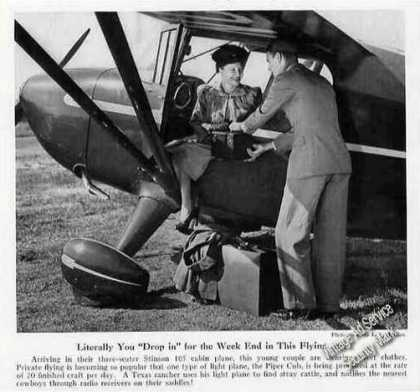 Stinson 105 Cabin Plane Magazine Photo (1940)