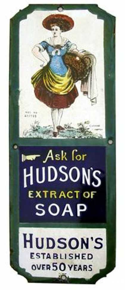 Hudson's Soap Fingerplate Laundry Girl