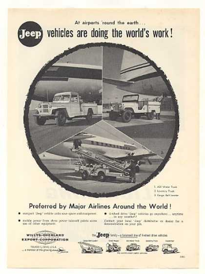 Jeep Water Lavatory Cargo Loader Airport Trucks (1959)