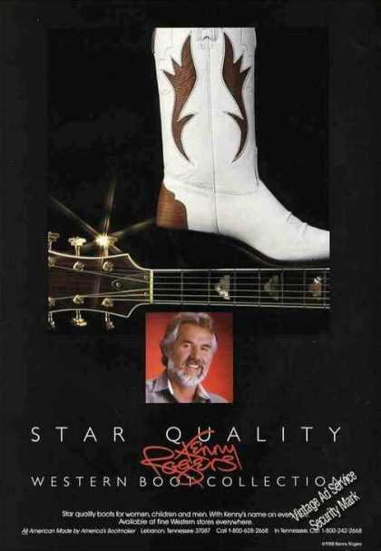 Star Quality Western Boots Kenny Rogers Photo (1988)