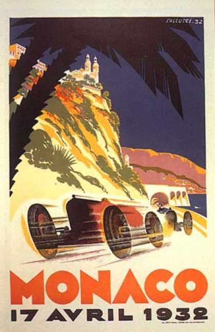 Monaco Grand Prix by Falcucci (1932)